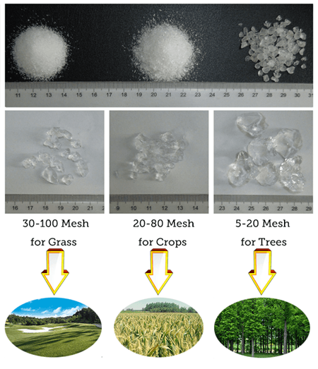 Super Absorbent Polymer For Plants
